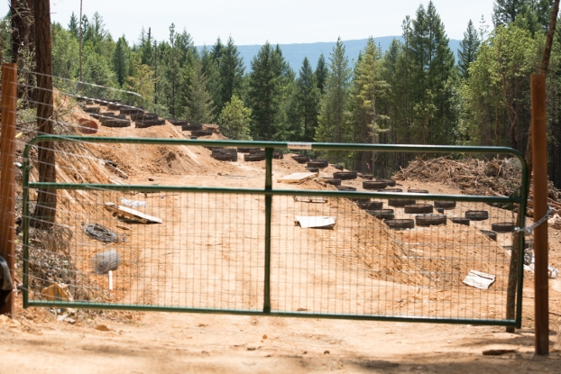A large clearcut developed to make a garden.